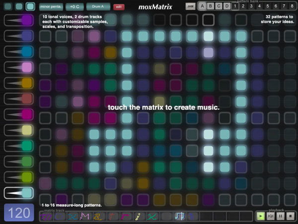 Make music with moxMatrix.